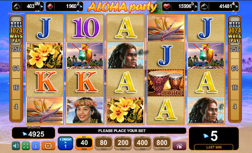 Aloha Party Slot Screenshot Review
