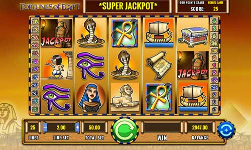 Fortunes of Egypt Slot Screenshot Review