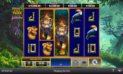 Legacy of the Tiger Slot Screenshot Review