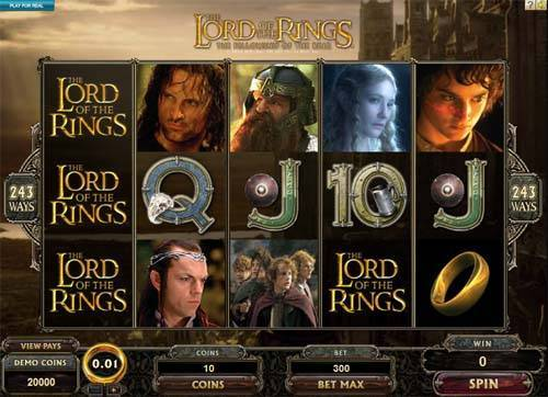 Lord of the Rings Jackpot Slot Screenshot Review