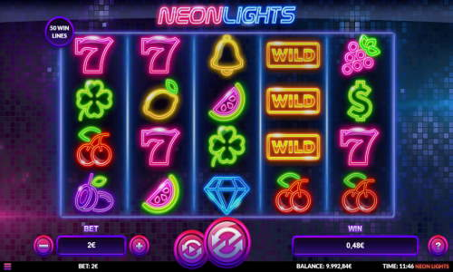 Neon Lights Slot Screenshot Review