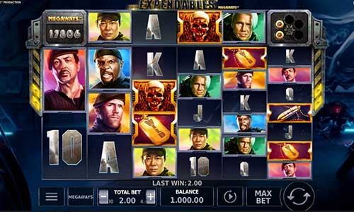 The Expendables Megaways Slot Screenshot Review