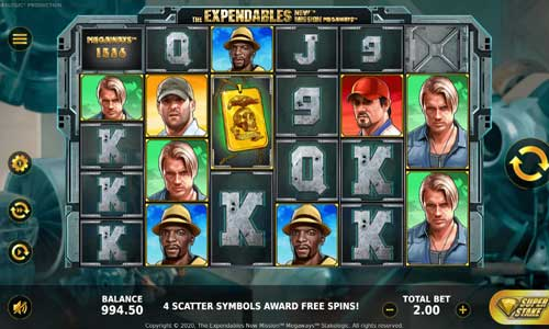 The Expendables New Mission Megaways Slot Screenshot Review